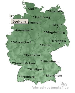 Borkum Karte Fahrradwege.Fahrrad Routenplan Borkum