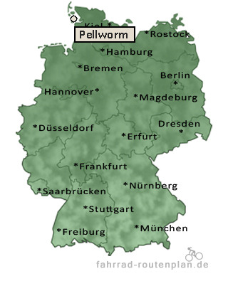 Pellworm Karte.Fahrrad Routenplan Pellworm