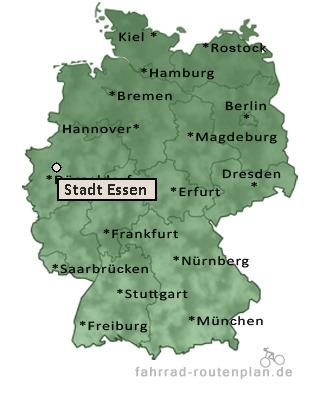 Stadt Essen Karte.Fahrrad Routenplan Stadt Essen Velbert Stadt Essen